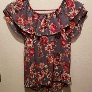 Off the Shoulder dressy summer shirt